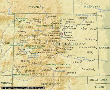 Colorado (Source: Microsoft Encarta 2000 Encyclopedia)